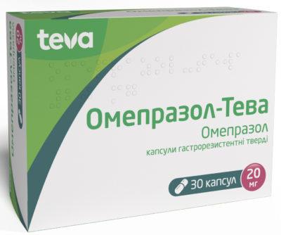 Omeprazole-Teva 20 mg 30 capsules