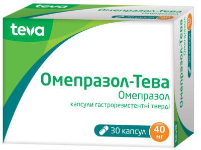 Omeprazole-Teva 40 mg 30 capsules