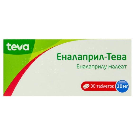 Enalapril-Teva 30 tablets 10 mg