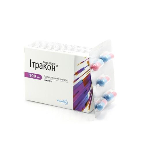 Itraconazole 100mg 6 capsules