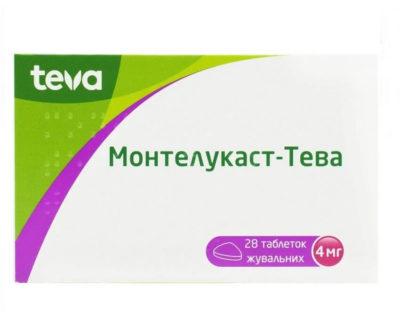 Montelukast-TEVA chewable tablets 4 mg, 28 pcs